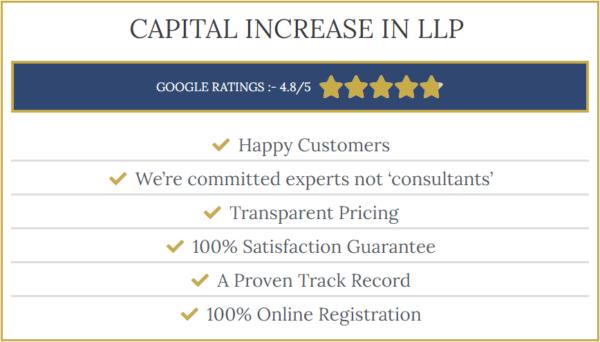 Increase capital in LLP